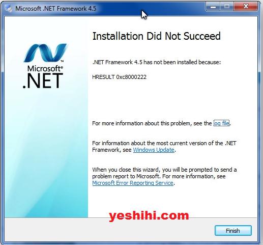 Hướng dẫn khắc phục lỗi khi cài Net Framework 4.5