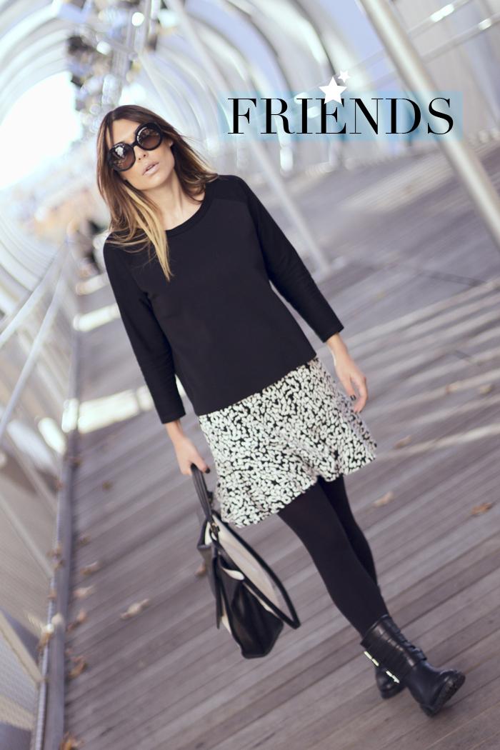 street style barbara crespo friends leopard print skirt peplum hem fashion blogger outfit