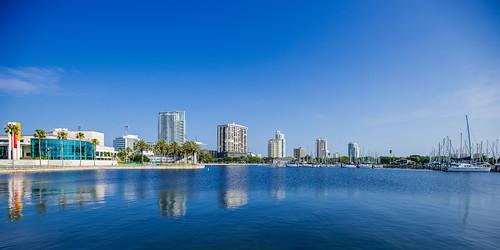 Panoramic Reflection: Downtown St. Petersburg, Florida