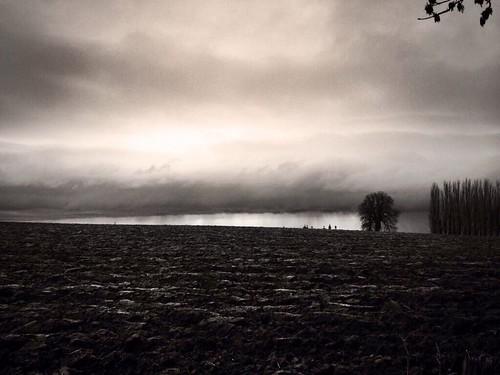 winter france graveyard field rain countryside beaudignies