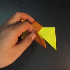 สอนวิธีพับกระดาษเป็นดาวกระจายนินจา (Shuriken Origami) - 011