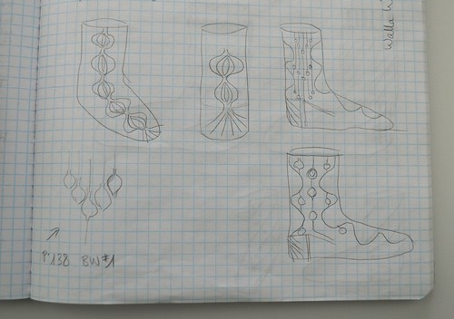 Design sketches for Walla Walla socks
