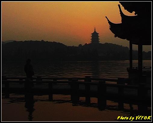 杭州 西湖 (其他景點) - 565 (西湖十景之 柳浪聞鶯 在這裡看 西湖十景的雷峰夕照 (雷峰塔日落景致)