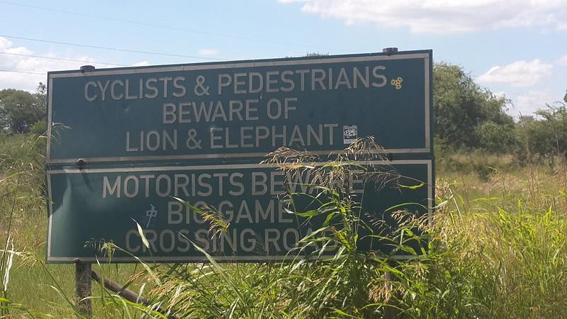 Entrance to Hlane National Park