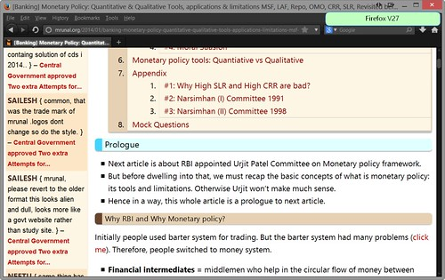 Mrunal site on Firefox 27