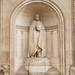 Statue of Sir John Soane the English architect on exterior of the Bank of England, London by Roberto Herrett