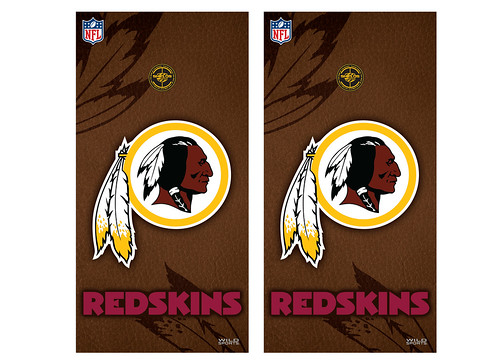 Washington Redskins Cornhole Game Decal Set