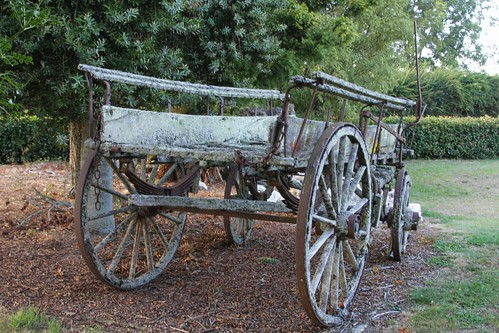 Old wagon, Matangi, Waikato, New Zealand