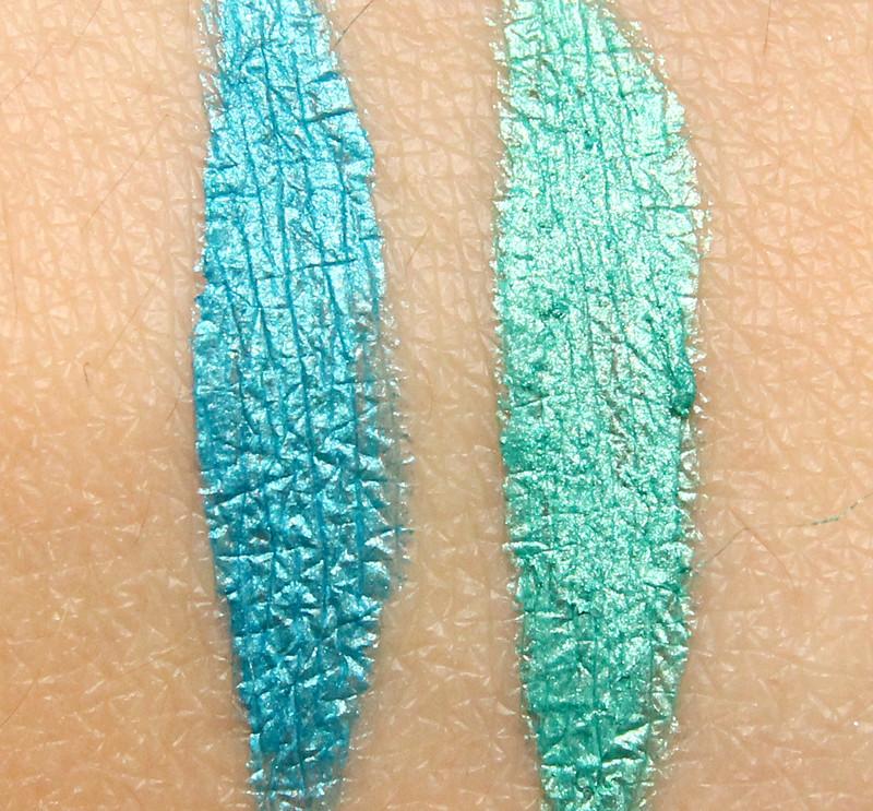 IsaDora turquoise & aqua gel liner waterproof swatch