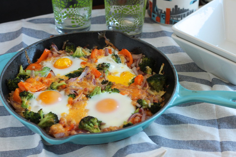 Breakfast Skillet with Pancetta and Veggies