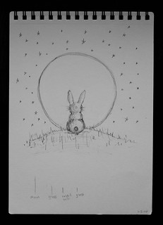 Rabbit in the Moon Concept Sketch