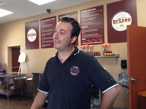 General Manager Marino Monferrato, DeSano Pizza