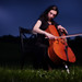 Cellist Carolyn Rosinsky, for Howard County Arts Council by strobist