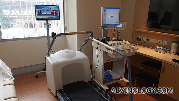 The thread mill and machine for the cardio check