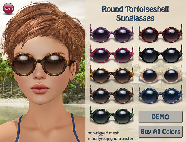 Round Tortoiseshell Sunglasses (TLC's The Boutique)