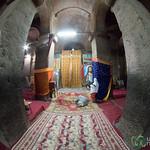 Fisheye View Inside Biete Medhane Alem Church - Lalibela, Ethiopia