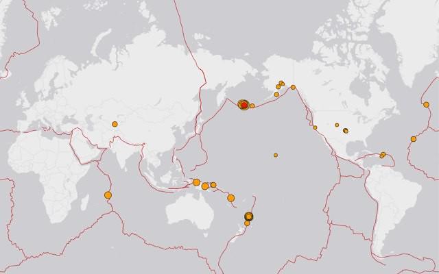 1 Day, Magnitude 2.5+ Worldwide