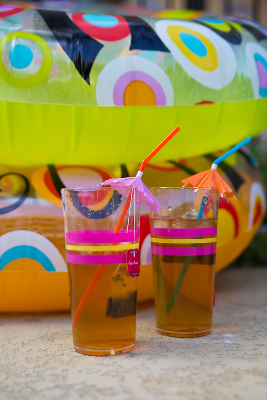 Iced Bigelow Tea and Personalized Inner Tubes #TrendTea #Shop