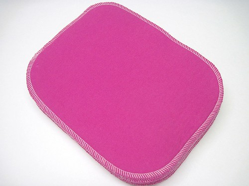 Bright Pink Two Ply Flannel Wipes