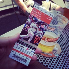 Getting our game on from row A -- Happy St. Peter and Paul day #sfgiants #sf