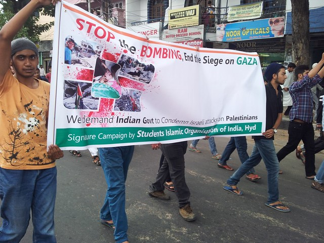 Protest in Hyderabad