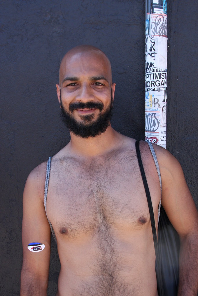 SEXY HUNK in SHEER UNDERWEAR ! FOLSOM STREET FAIR 2016 ! ( safe photo)