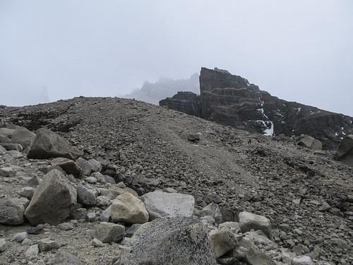 Torres del Paine: trek du W. Jour 1: à la conquête de Las Torres...dans le brouillard