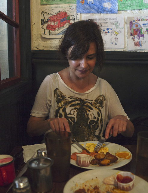 Maite, breakfast, NYC (2016)