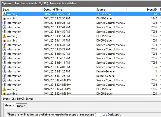 Monitor Your DHCP Scopes With vRealise Log Insight | The
