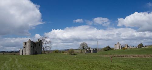 Ballyloughlan Castle panorama