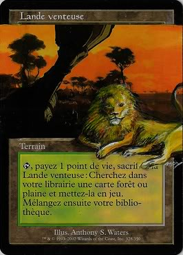 Windswept Heath Altered magic the gathering mtg card art altered