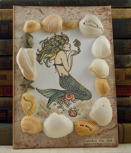 Mermaid and Shells Collage