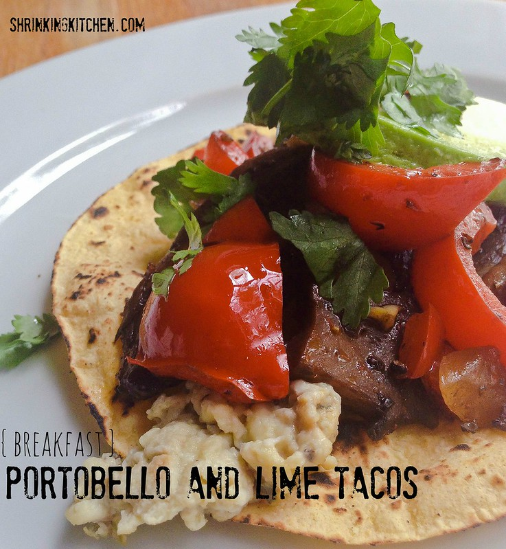 portobello and lime tacos