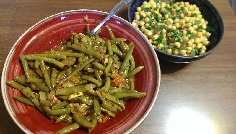Braised Green Beans and Chick Pea Salad