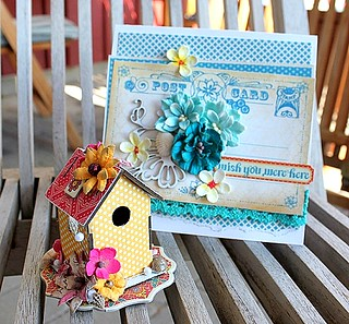 Birdhouse and card