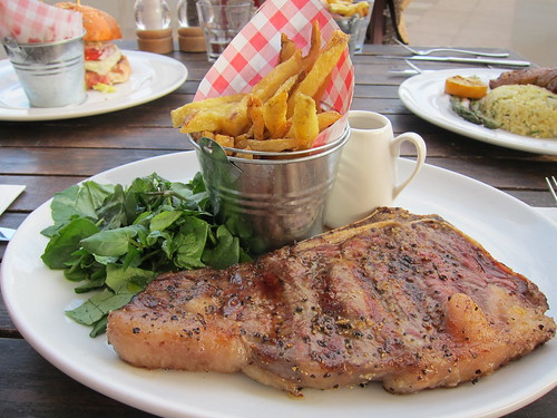 al fresco dining - steak
