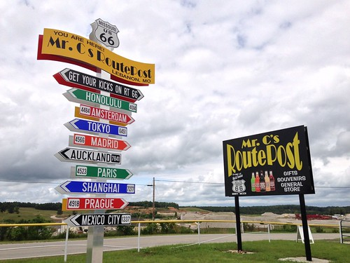 Mr. C's RoutePost, Route 66, Lebanon, Missouri