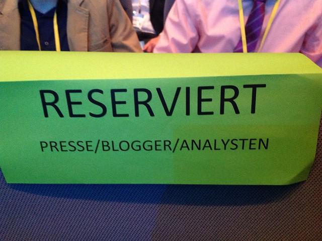 Reserviert Presse/Blogger/Analysten