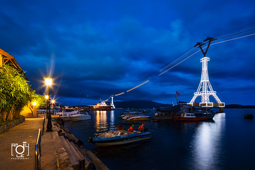 Nha Trang port by nitght