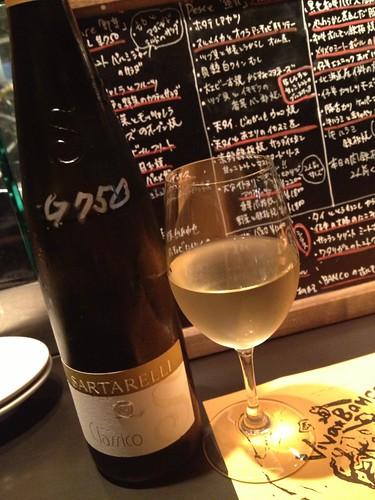 白ワインでスタート@ビババンコ