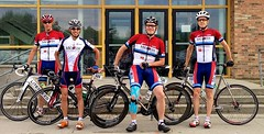 The Midweek Cat 4/5 team before Stage 2. The only time I look good is... before the race.   Photo by Elf