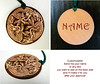 CELTIC DOGS pyrography beautiful round wooden keychain pendant with your name