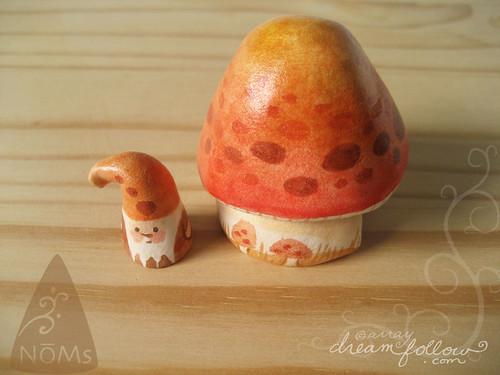 orange mushroom habitat