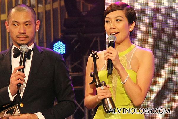 Mandy Wong collecting her award