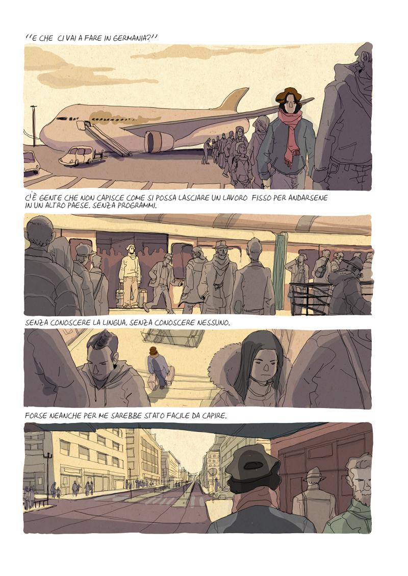Alberto Madrigal Un lavoro vero boarding plane