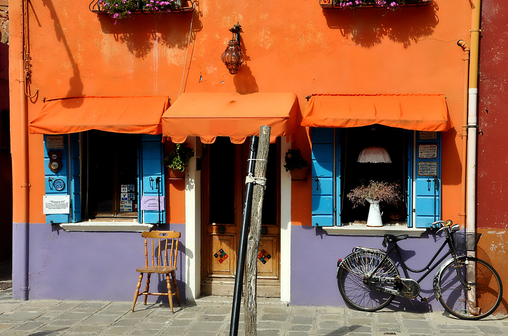 Orange house in Burano