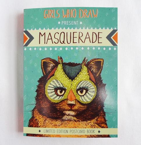 Masquerade Postcard Book