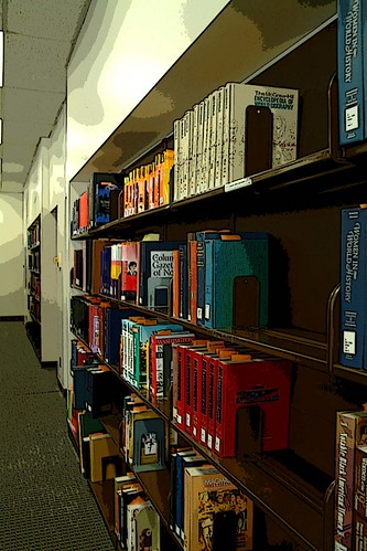 Image of reference books on shelf