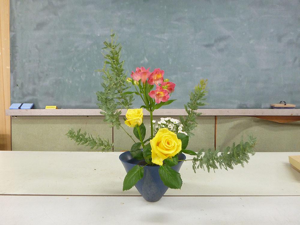 【盛花】ミモザアカシア、アルストロメリア、バラ