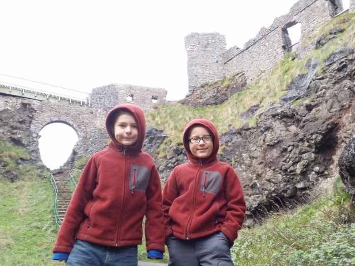 Checking out Dunluce Castle.